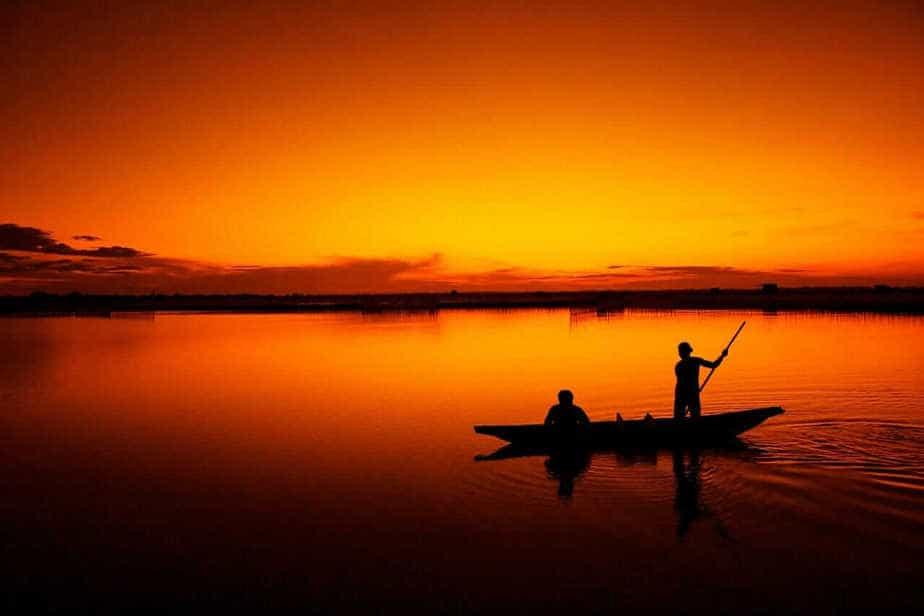Preparing for night fishing