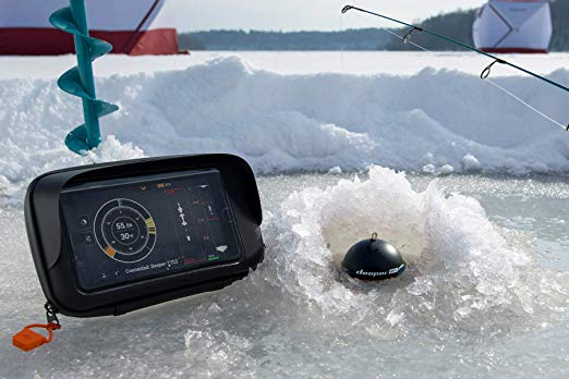Deeper fish finder on ice