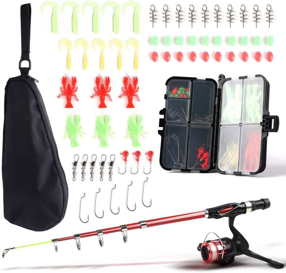 SupsShop Fishing Rod and Reel Combo Full Kit