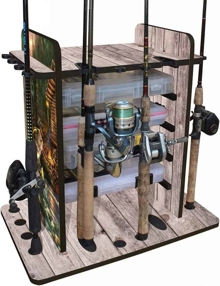 Rush Creek Creations 14 Fishing Rod Rack