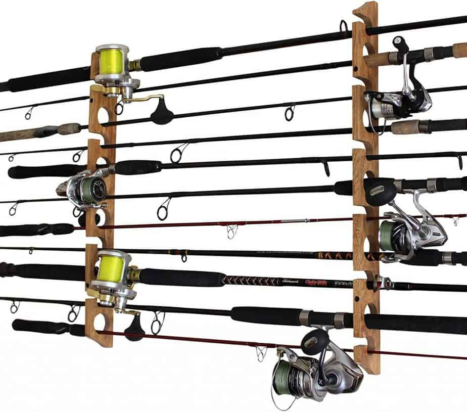 Rush Creek Creations Fishing Pole Storage Ceiling Rack