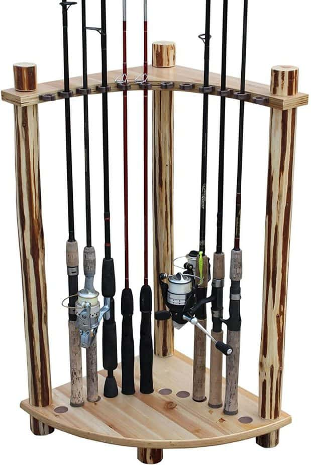 Rush Creek Creations Rustic Log 12 Rod Storage