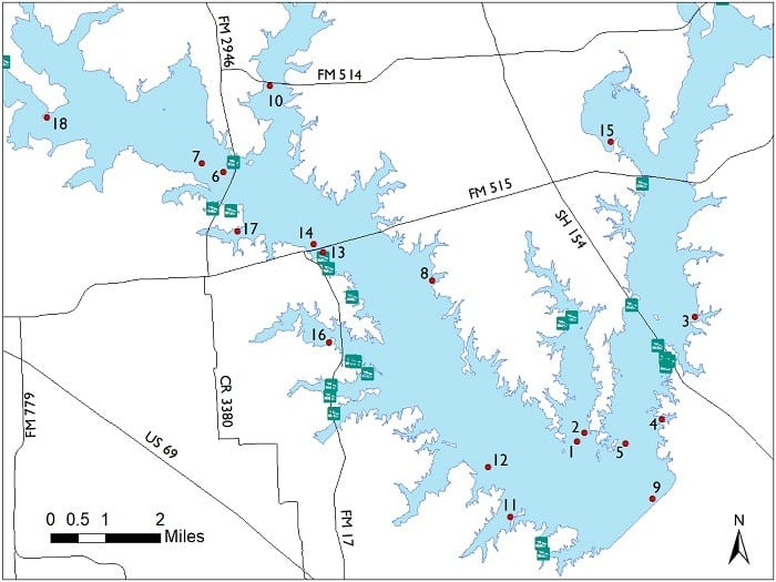 Lake Fork Fishing Map